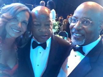 At the Congressional Black Caucus dinner, Jolene Ivey and former State's Attorney Glenn Ivey, a candidate for Congress in the 4th District, pose with Rep. John Lewis, the longtime civil rights advocate.