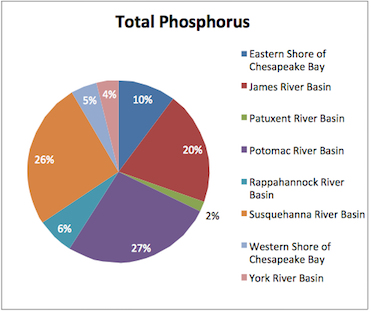 Phosphourus sounce by basin region