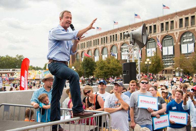 Martin O'Malley at the Iowa State Fair in August. Photo by iprimages with Flickr Creative Commons License