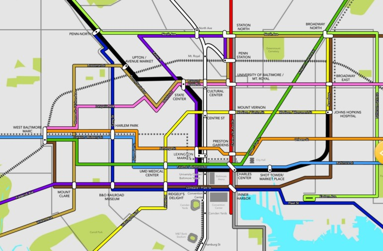 Baltimore Link Map color