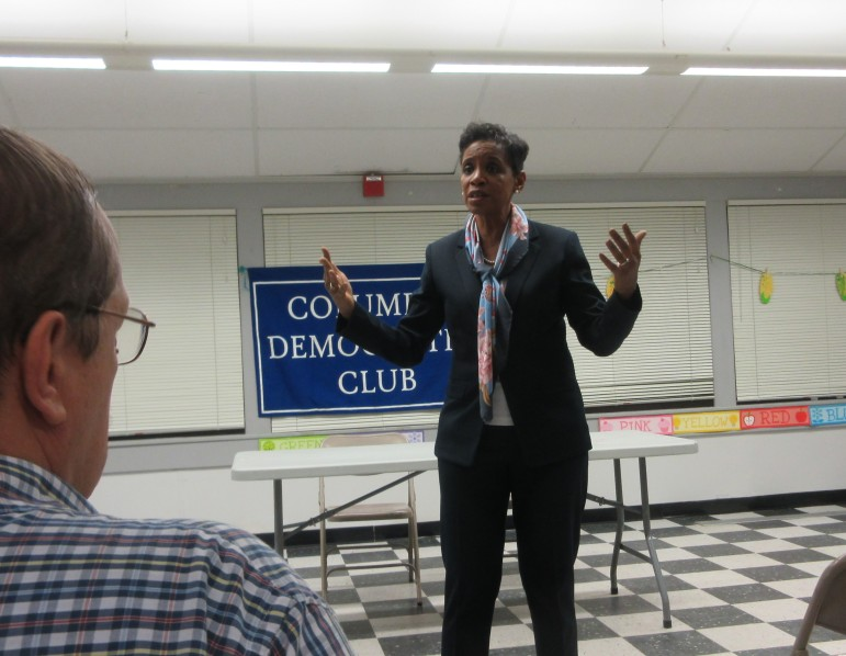 Rep. Donna Edwards at the Columbia Democratic Club.