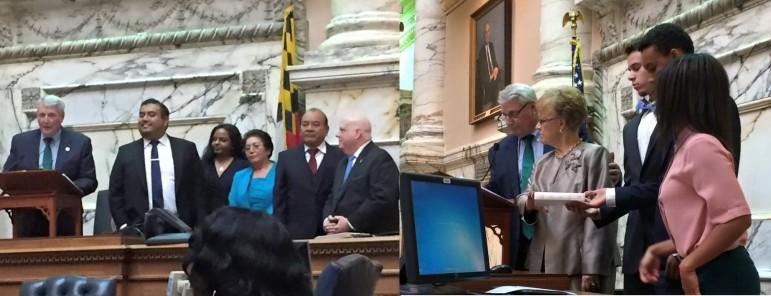 Two delegates sworn in Proctor Sanchez Facebook Jolene Ivey