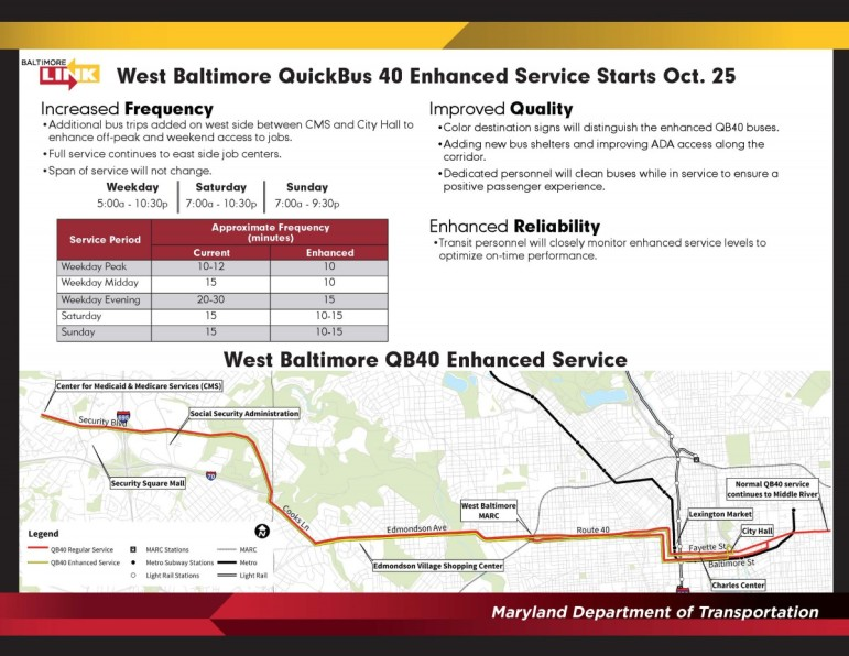 West Baltimore QuickBus 40