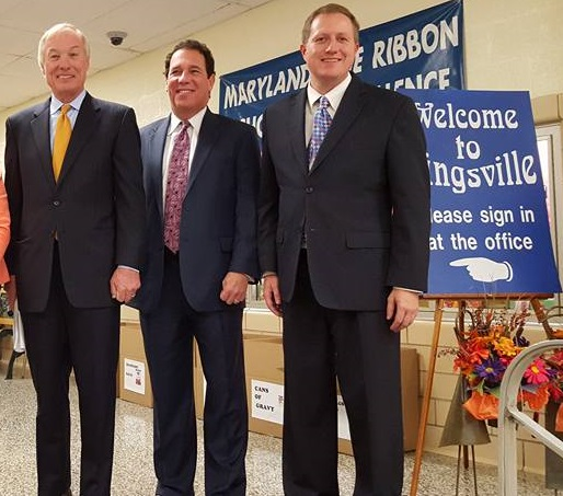 Comptroller Peter Franchot, Baltimore County Executive Kevin Kamenetz and Baltimore County Council member David  Marks visited Kingsville Elementary School during National Education Week in November.