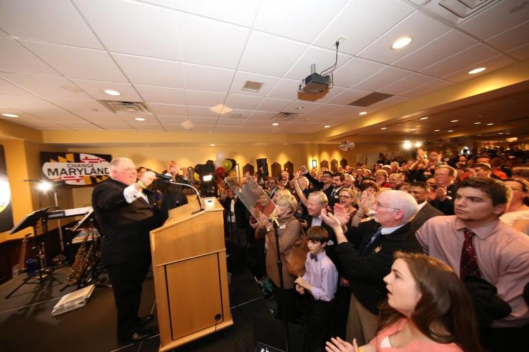 Hogan addresses crowd anniversary