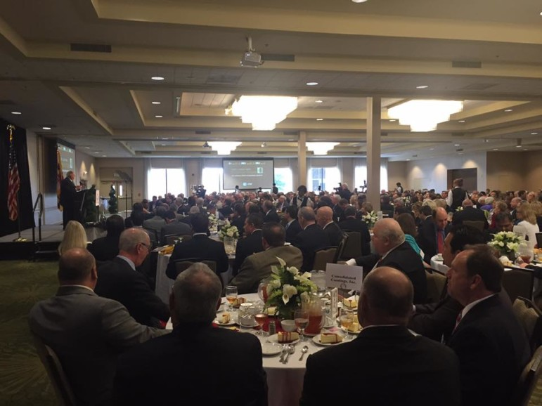 Gov. Hogan addresses MBRG luncheon. Photo by Governor's Office.