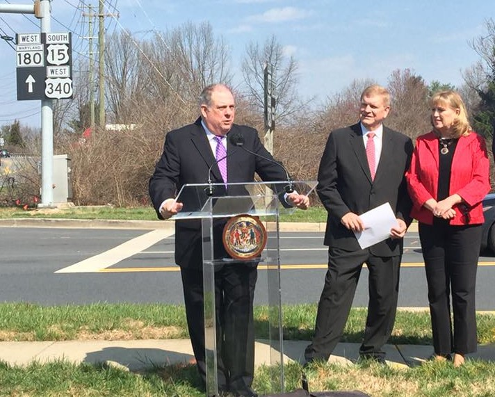 Hogan tours Frederick, again asks businesses to lobby legislators