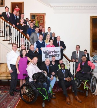 Gov. Larry Hogan held a reception Tuesday night for wounded veterans.