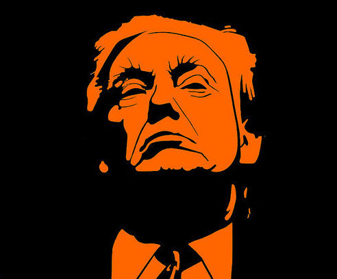 Trump by DonkeyHotey with Flickr Creative Commons License