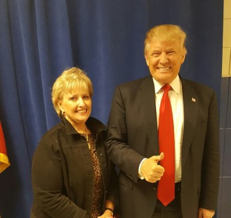Denise Lovelady with Donald Trump in Berlin, Md., From Denise's Facebook page.