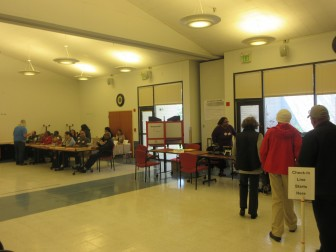 Early voting was slow in Columbia Thursday.