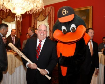 Hogan and Orioles bird