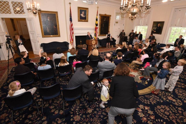Hogan bring your child to work presser
