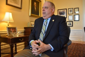 Gov. Larry Hogan. Photo by Rachel Bluth, Cpaital News Service