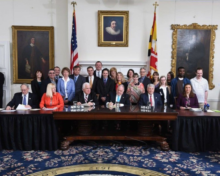 Gov. Hogan signs bill allowing people with disabilities to save more money than currently allowed and keep their government benefits.