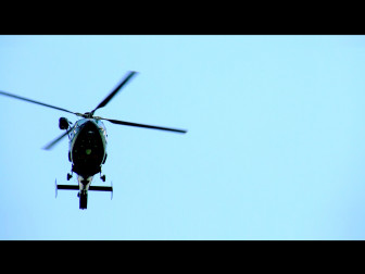 Photo by Flickr user JoshuaDavisPhotography. It shows a Maryland State Police helicopter conducting a missing persons search. Cell phone simulators have been used in missing persons cases.