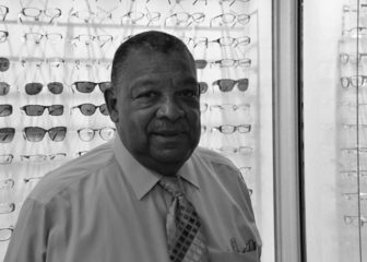 Optician Delmar Nelson has owned Crest Opticians for 50 years. If Purple Line plans fall through, this will be his third time relocating for a capital project.