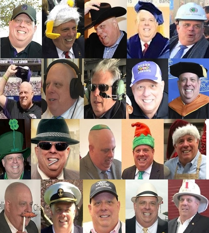 Hogan in hats collage