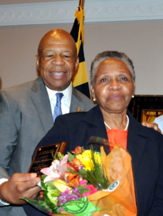 Rep. Elijah Cummings and Bessie Bordenave. Photo by Ed Kimmel, MdFriendofHillary on Flickr Creative Commons.