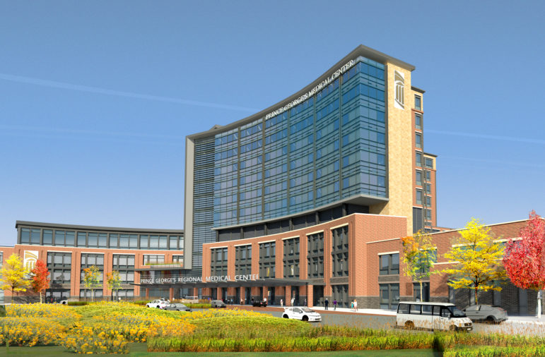 Rendering of proposed Prince George's County Regional Medical Center.