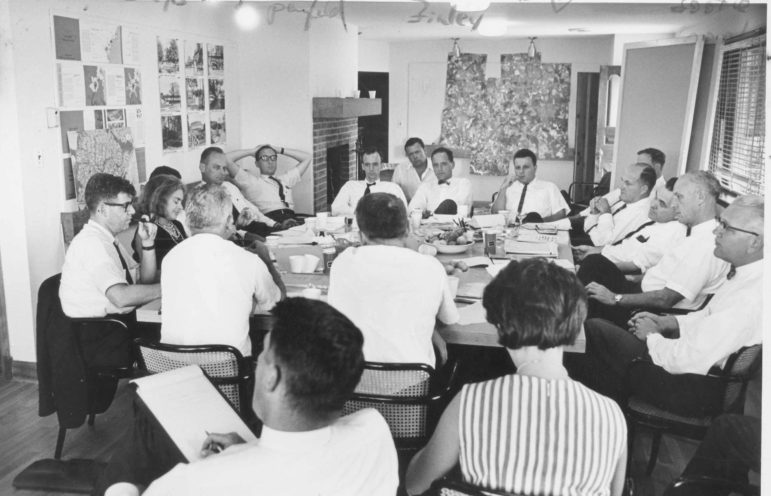 A work group of experts in 13 fields did the social planning for Columbia. Photo by Robert de Gast, courtesy of Columbia Archives.