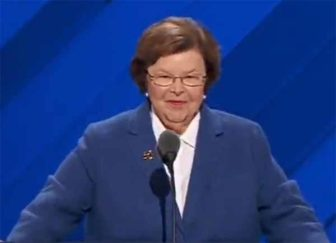 Sen. Mikulski nominates her good friend Hillary Clinton for president. WMAR screenshot