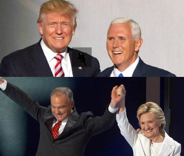 Trump Penccccce Kaine Clinton
