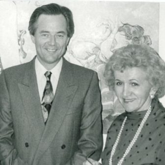 Blaine Taylor and Helen Bentley in 1992 when he served as her press secretary. From Taylor's arichives