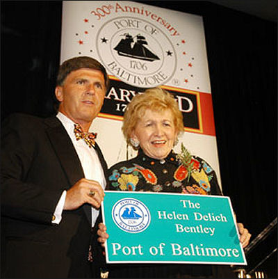 In 2006, Gov. Bob Ehrlich named the Port of Baltimore for Helen Delich Bentley, whom he had succeeded in Congress in 1995 after she ran for Congress.
