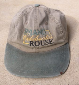 "Baseball cap says ""Ryland Celebrates Rouse."" Photo by Len Lazarick"