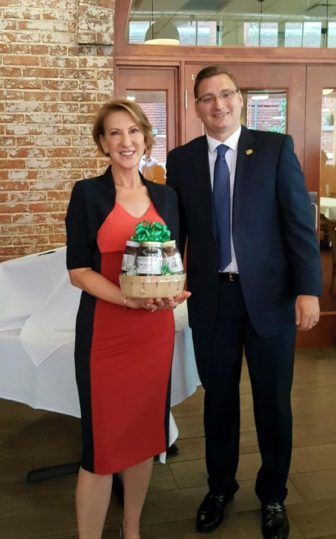 Carly Fiorina and Sen. Michael Hough