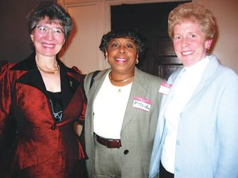 From left, former Business Monthly Publisher Carole Pickett Ross, Columbia Association President Maggie Brown, who died in 2010, and former Business Monthly Editor-in-Chief Judy Tripp, who died in September.
