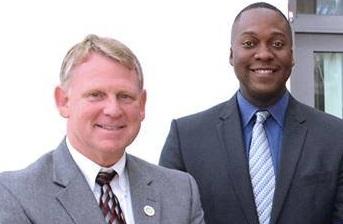 Howard County Executive Allan Kittleman and Council Chair Calvin Ball in a recent Facebook photo.