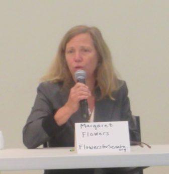 Dr. Margaret Flowers, Green Party candidate for Senate. MarylandReporter.com photo.