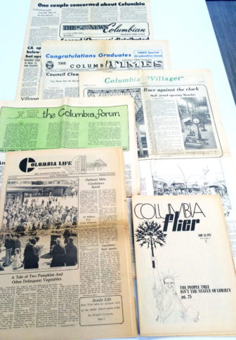 An array of local newspapers serving Columbia in 1973-74.