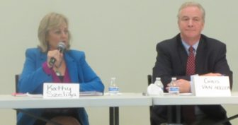 Del. Kathy Szeliga and Rep. Chris Van Hollen. MarylandReporter.com photo.