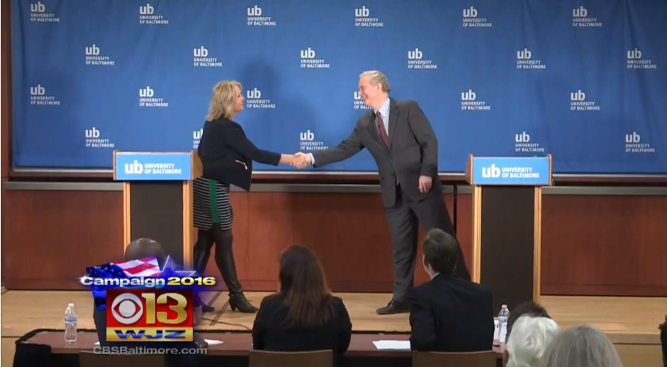 Szeliga, Van Hollen debate on TV for U.S. Senate seat; Green Party candidate ejected