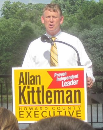 Allan Kittleman announces his run for executive in 2013.