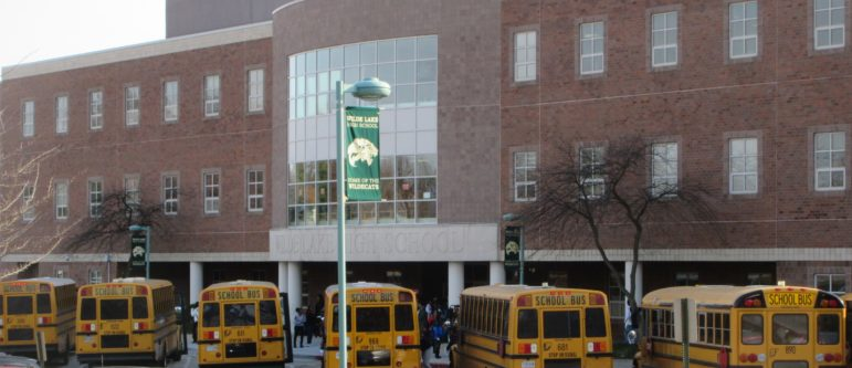 Wilde Lake High School was replaced with a more traditional building in 1996. Photo by Len Lazarick.