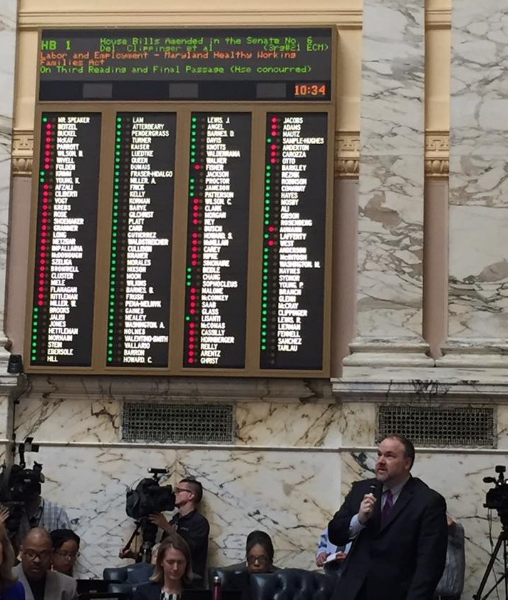 Paid sick leave bill sent to Hogan, who has pledged a veto