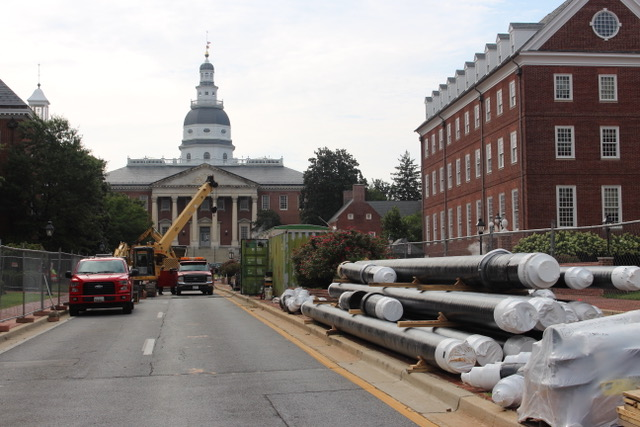 Steam line repair project means changes on Lawyers Mall