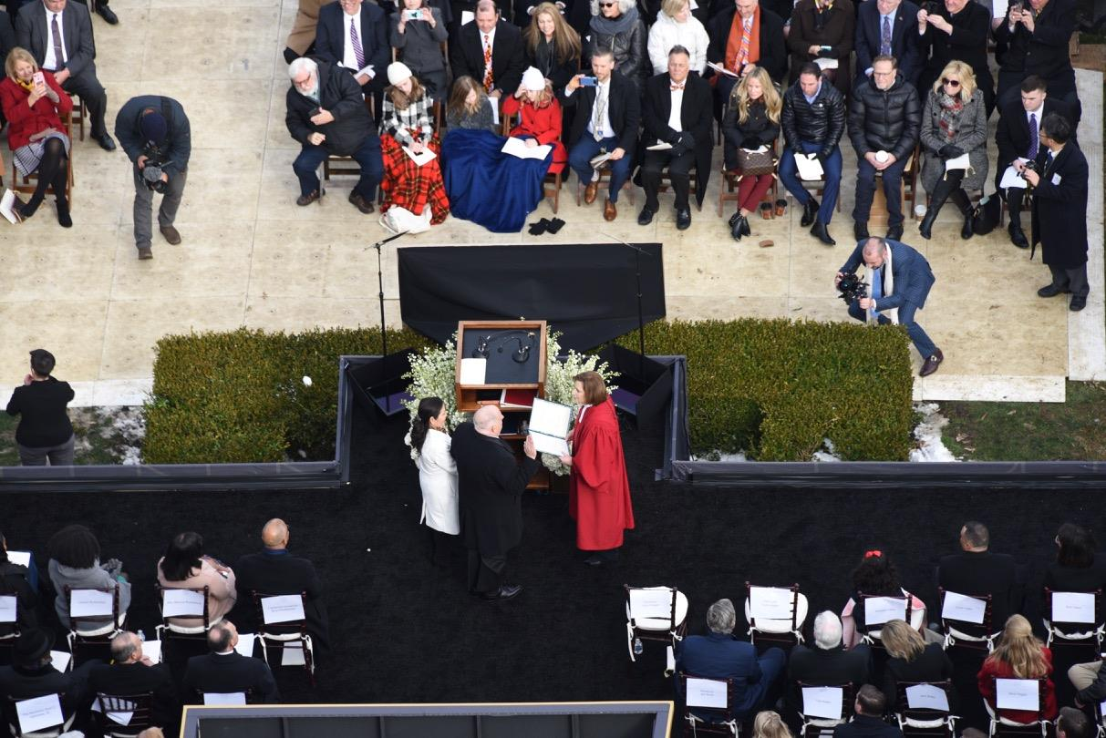 Inauguration Gallery: Prayer in the morning, speeches at midday, a purple surfboard at night