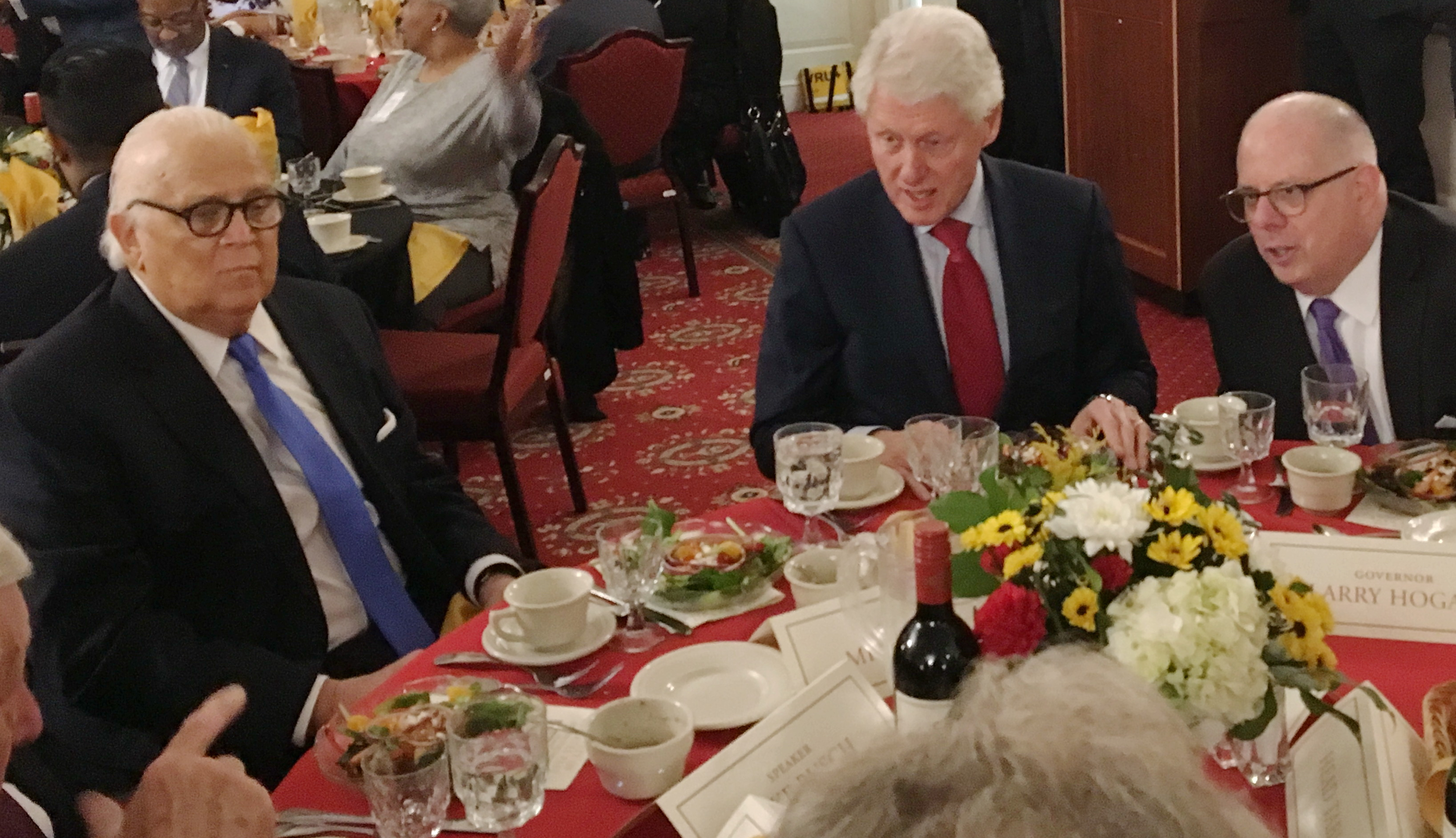 Bill Clinton celebrates Mike Miller