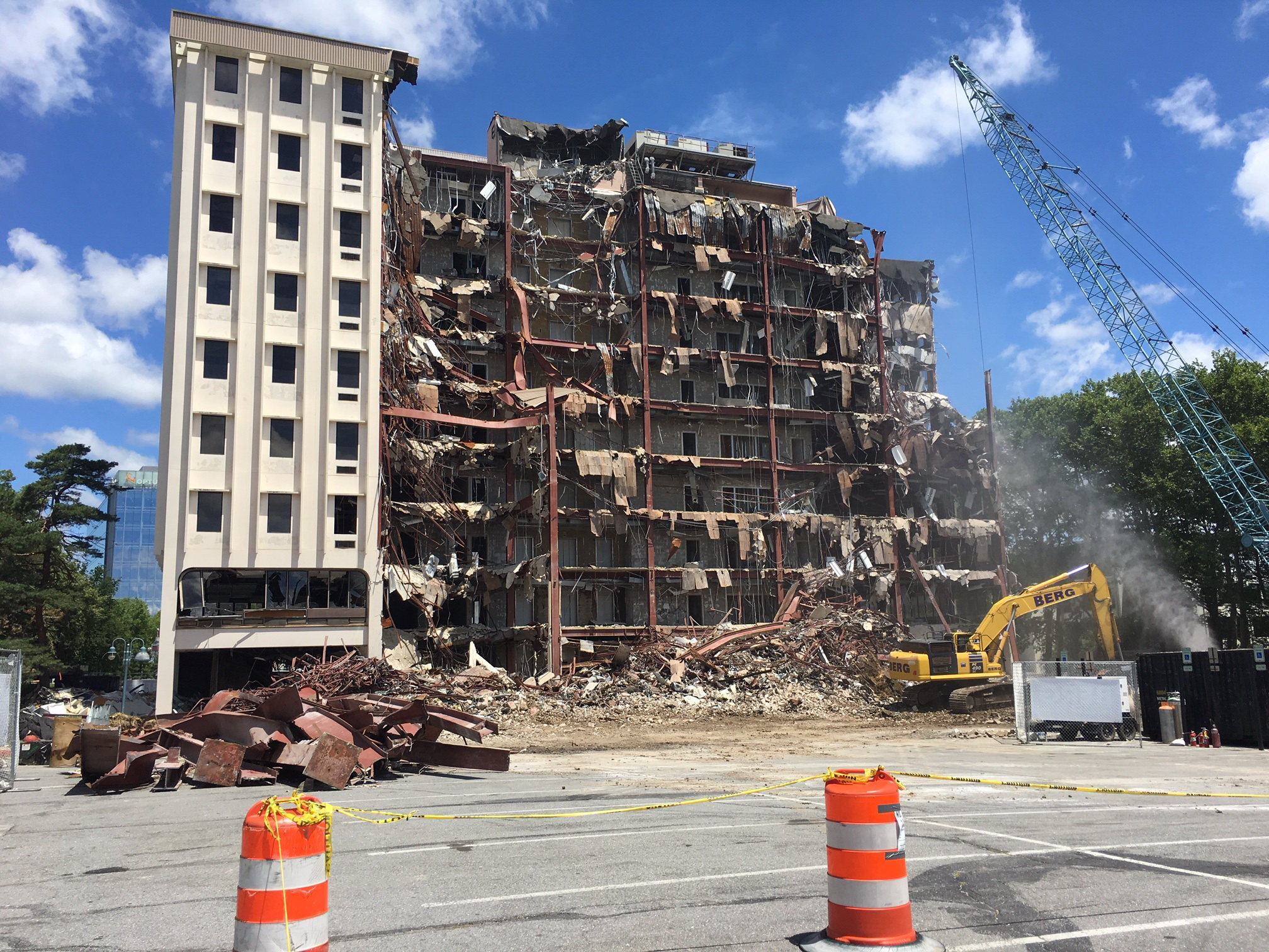 Columbia's oldest high-rise being demolished to make way for more development