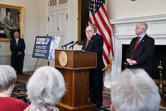 Hogan proposes more than $1 billion in tax cuts for retirees