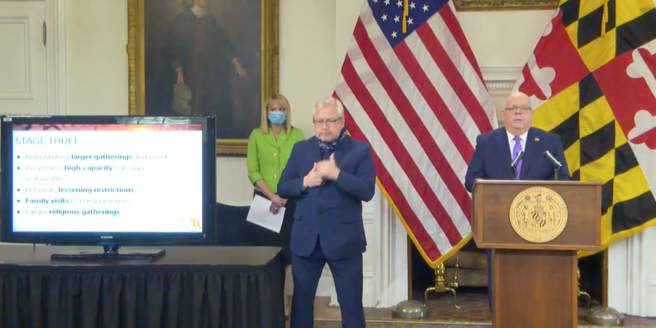 Hogan is 'hopeful' that Md. could begin to reopen in early May