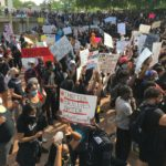 Thousands march peacefully in Columbia to protest police killings