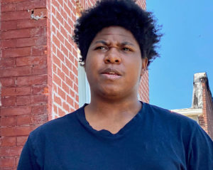 """Why did that happen to us in school?"" Damani Thomas, 18, of Baltimore in spring 2020.  (Capital News Service photo)"