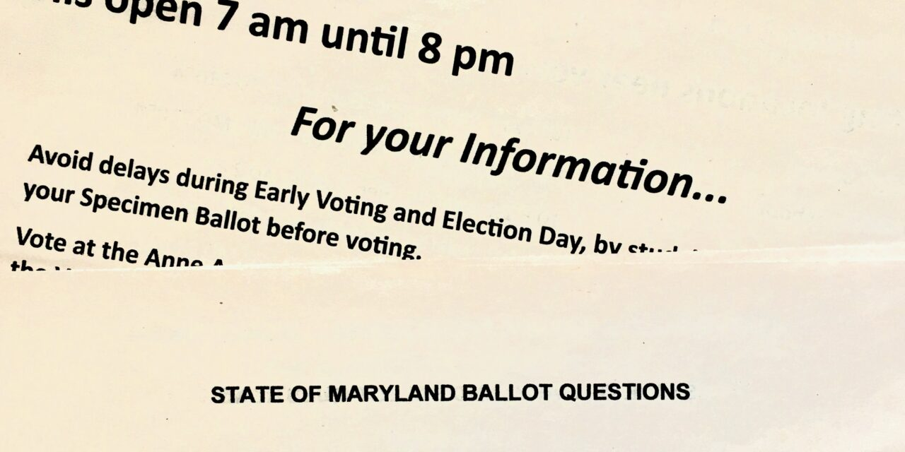 Maryland voters weigh in on proposed budget amendment