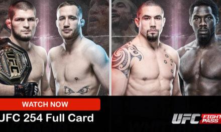 MMA Streams: UFC 254 Live Stream Reddit Full Fight Online